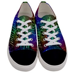 Christmas Greeting Card Frame Women s Low Top Canvas Sneakers
