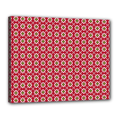 Christmas Wrapping Paper Canvas 20  X 16