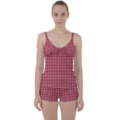 Christmas Wrapping Paper Tie Front Two Piece Tankini