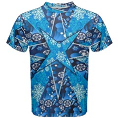 Christmas Background Wallpaper Men s Cotton Tee