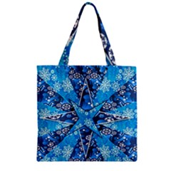 Christmas Background Wallpaper Zipper Grocery Tote Bag