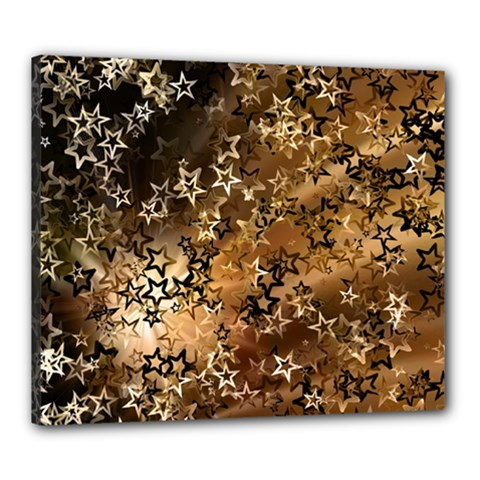 Star Sky Graphic Night Background Canvas 24  X 20