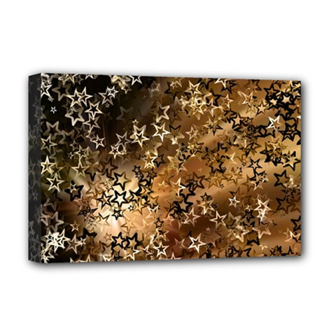 Star Sky Graphic Night Background Deluxe Canvas 18  X 12
