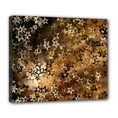 Star Sky Graphic Night Background Deluxe Canvas 24  X 20