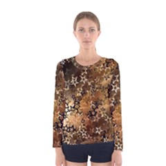 Star Sky Graphic Night Background Women s Long Sleeve Tee