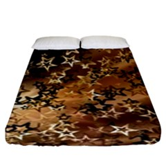 Star Sky Graphic Night Background Fitted Sheet (king Size)
