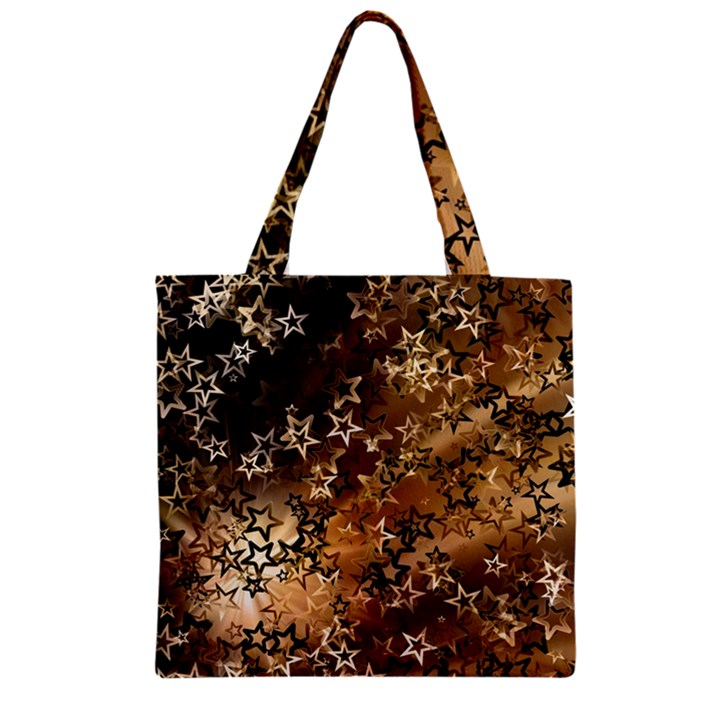 Star Sky Graphic Night Background Zipper Grocery Tote Bag