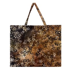 Star Sky Graphic Night Background Zipper Large Tote Bag