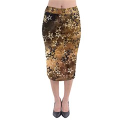 Star Sky Graphic Night Background Midi Pencil Skirt