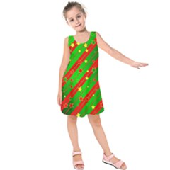 Star Sky Graphic Night Background Kids  Sleeveless Dress