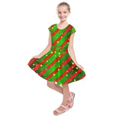 Star Sky Graphic Night Background Kids  Short Sleeve Dress