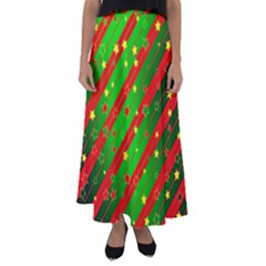 Star Sky Graphic Night Background Flared Maxi Skirt