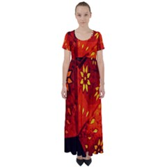 Star Light Christmas Romantic Hell High Waist Short Sleeve Maxi Dress