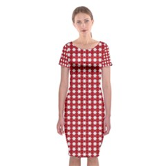 Christmas Paper Wrapping Paper Classic Short Sleeve Midi Dress