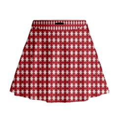 Christmas Paper Wrapping Paper Mini Flare Skirt