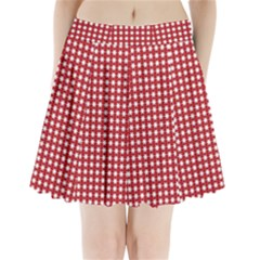 Christmas Paper Wrapping Paper Pleated Mini Skirt