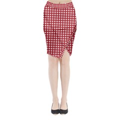 Christmas Paper Wrapping Paper Midi Wrap Pencil Skirt