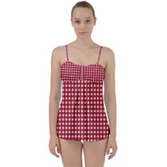 Christmas Paper Wrapping Paper Babydoll Tankini Set
