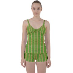 Seamless Tileable Pattern Design Tie Front Two Piece Tankini