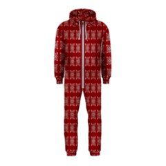 Christmas Paper Wrapping Paper Hooded Jumpsuit (kids)