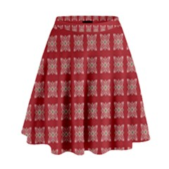 Christmas Paper Wrapping Paper High Waist Skirt