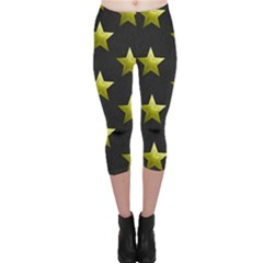 Stars Backgrounds Patterns Shapes Capri Leggings