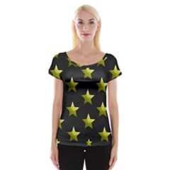 Stars Backgrounds Patterns Shapes Cap Sleeve Tops