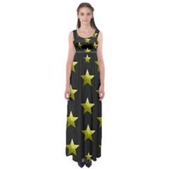 Stars Backgrounds Patterns Shapes Empire Waist Maxi Dress