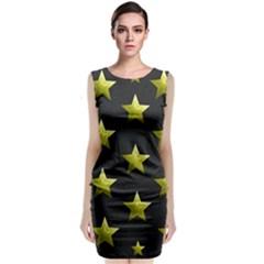Stars Backgrounds Patterns Shapes Sleeveless Velvet Midi Dress