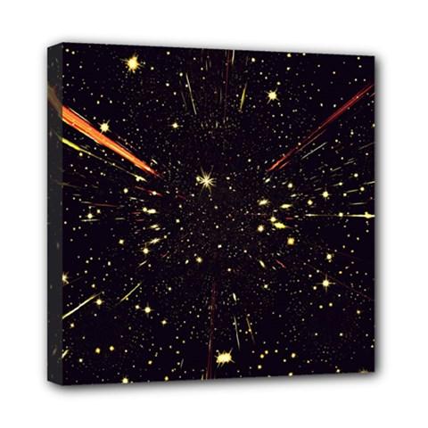Star Sky Graphic Night Background Mini Canvas 8  X 8