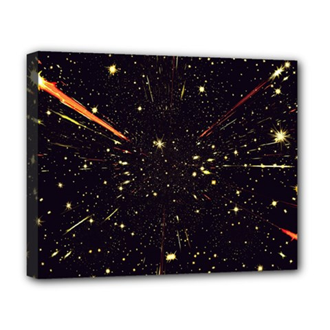 Star Sky Graphic Night Background Deluxe Canvas 20  X 16