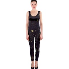 Star Sky Graphic Night Background Onepiece Catsuit