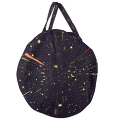 Star Sky Graphic Night Background Giant Round Zipper Tote