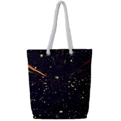 Star Sky Graphic Night Background Full Print Rope Handle Bag (small)