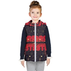 Star Sky Graphic Night Background Kid s Puffer Vest