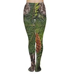 Branch Christmas Cone Evergreen Women s Tights