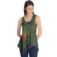 Branch Christmas Cone Evergreen Sleeveless Tunic