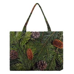 Branch Christmas Cone Evergreen Medium Tote Bag