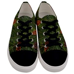 Branch Christmas Cone Evergreen Men s Low Top Canvas Sneakers
