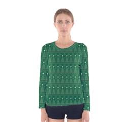 Christmas Tree Pattern Design Women s Long Sleeve Tee