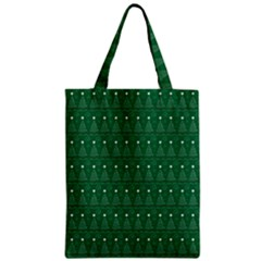 Christmas Tree Pattern Design Zipper Classic Tote Bag