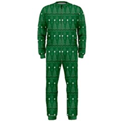 Christmas Tree Pattern Design Onepiece Jumpsuit (men)