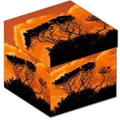 Trees Branches Sunset Sky Clouds Storage Stool 12