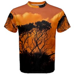 Trees Branches Sunset Sky Clouds Men s Cotton Tee