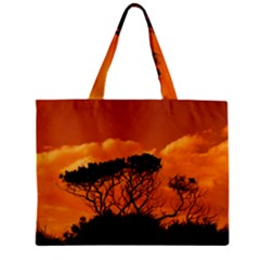 Trees Branches Sunset Sky Clouds Zipper Mini Tote Bag