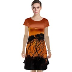Trees Branches Sunset Sky Clouds Cap Sleeve Nightdress