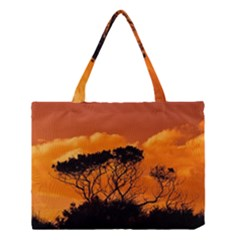Trees Branches Sunset Sky Clouds Medium Tote Bag