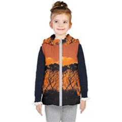 Trees Branches Sunset Sky Clouds Kid s Puffer Vest