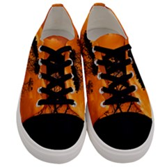 Trees Branches Sunset Sky Clouds Men s Low Top Canvas Sneakers