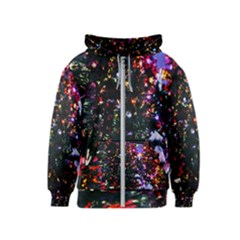 Abstract Background Celebration Kids  Zipper Hoodie